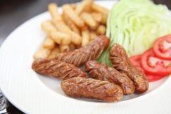 Sausage with potato Royalty Free Stock Image
