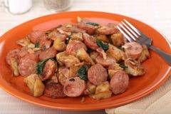 Sausage Potato Dinner Royalty Free Stock Photo
