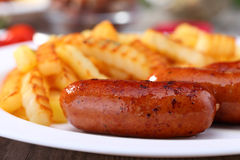 Sausage with potato Royalty Free Stock Photography
