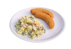 Sausage and potato salad Stock Photo