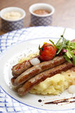 Sausage with potatoes Royalty Free Stock Photo