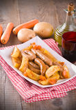 Sausage and potatoes. Royalty Free Stock Photos