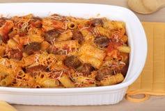 Sausage Rigatoni Casserole Stock Image