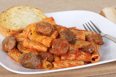 Sausage Rigatoni Meal Stock Photography