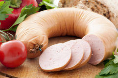 Sausage Ring Royalty Free Stock Photography