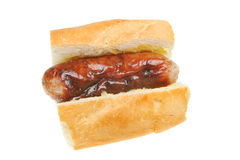 Sausage in roll Stock Image