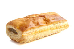 Sausage roll. Isolated on a white background Stock Photography