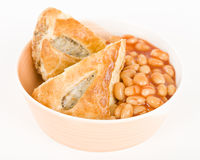Sausage Roll & Beans Stock Photography