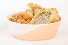 Sausage Roll & Beans Royalty Free Stock Images