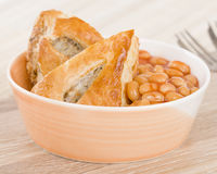 Sausage Roll & Beans Stock Images