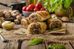 Sausage Roll delicious recepy Stock Images