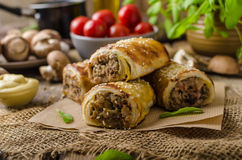 Sausage Roll delicious recepy Royalty Free Stock Photo
