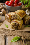 Sausage Roll delicious recepy Stock Photography