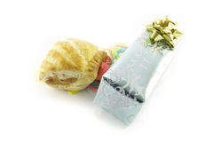 Sausage Roll and Gift Stock Image