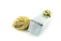 Sausage Roll and Gift Stock Images