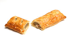 Sausage Roll Isolated on white background Royalty Free Stock Photography