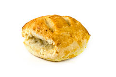 Sausage roll over white Royalty Free Stock Photography