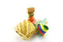 Sausage Roll and Party Blower Royalty Free Stock Photo