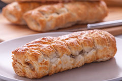 Sausage Roll on plate Royalty Free Stock Photo