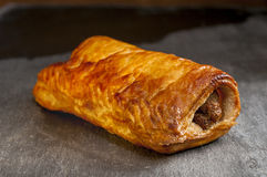 Sausage Roll on Slate Royalty Free Stock Photography