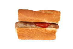 Sausage in a roll Royalty Free Stock Photos