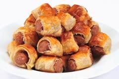 Sausage rolls Royalty Free Stock Photos