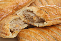 Sausage Rolls. Close-up of freshly baked sausage rolls Royalty Free Stock Photo