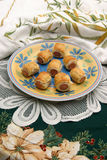 Sausage rolls. Pig in blanket rolls, pork sausages wrapped in puff pastry Royalty Free Stock Images