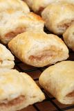 Sausage rolls closeup Stock Images
