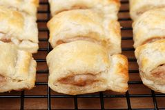 Sausage Rolls On Cooling Rack Stock Photography