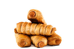 Sausage rolls isolated Royalty Free Stock Images