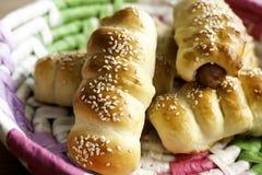 Sausage rolls Stock Photos