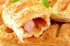Sausage rolls Stock Photography