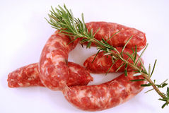 Sausage and Rosemary Royalty Free Stock Photos