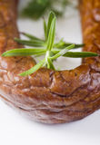 Sausage with rosemary Royalty Free Stock Photography