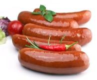 Sausage`s arranged Stock Image