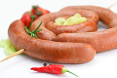 Sausage`s arranged Royalty Free Stock Image