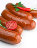 Sausage`s arranged Royalty Free Stock Images