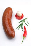 Sausage`s arranged Stock Photography