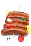 Sausage`s arranged Royalty Free Stock Photography