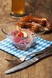 sausage salad Stock Photo