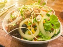 Sausage and salad North side Traditional Food. Of Thailand royalty free stock photo