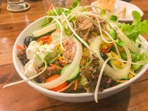Sausage and salad North side Traditional Food. Of Thailand stock image