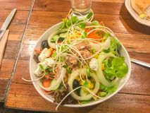 Sausage and salad North side Traditional Food. Of Thailand royalty free stock photos