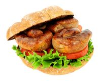 Sausage Sandwich Roll Stock Images