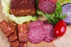 Sausage of salami Royalty Free Stock Photo