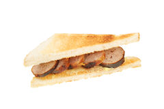 Sausage sandwich Royalty Free Stock Photo