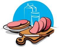 Sausage sandwich Royalty Free Stock Photos