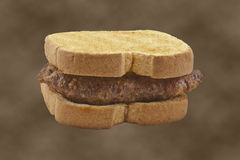 Sausage Sandwich Stock Photo
