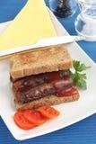 Sausage sandwich Stock Image